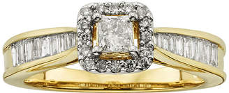 JCPenney MODERN BRIDE 3/4 CT. T.W. Certified Diamond 10K Yellow Gold Bridal Ring