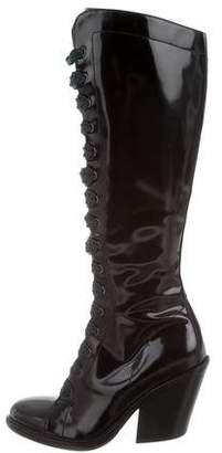 AGL Lace-Up Knee-High Boots