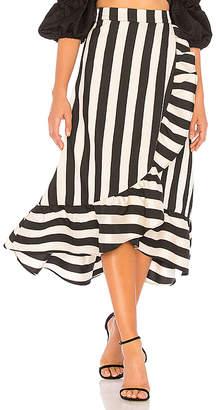 LPA Hi Low Ruffle Skirt