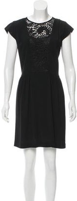 Sandro Cap Sleeve Lace-Accented Dress $90 thestylecure.com