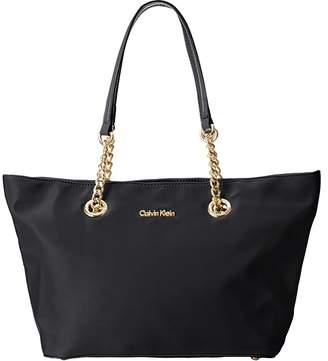 Calvin Klein Nylon Chain Tote Tote Handbags