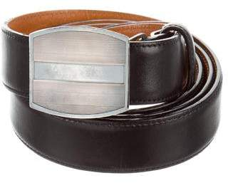 Ralph Lauren Sterling Silver Buckle Leather Belt