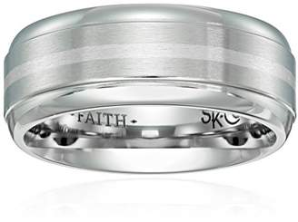 Triton Men's Scott Kay Cobalt Unity Band with Silver Strip and Satin Center Wedding Bands