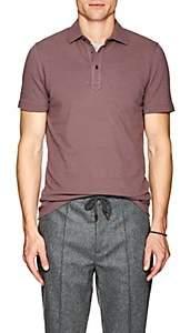 Brunello Cucinelli Men's Piqué Cotton Polo Shirt - Mauve