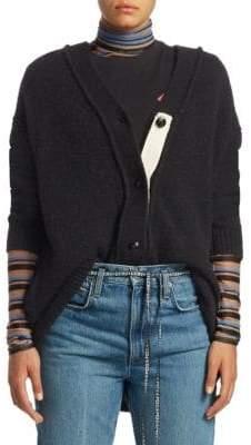 Proenza Schouler PSWL Long Brushed Wool Cardigan