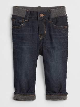 Gap Fleece-Lined Straight Jeans