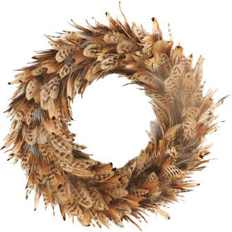 K and K Interiors Feather Wreath