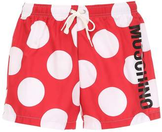 Moschino Logo Polka Dot Tech Swim Shorts