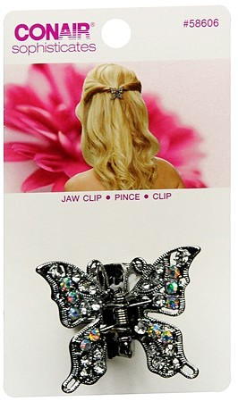 Conair Sophisticates Butterfly Jaw Hair Clip Silver