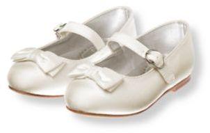 Janie and Jack Bow Silk Duppioni Ballet Flat
