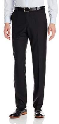 Kenneth Cole Reaction Men's Sharkskin Slim-Fit Flat-Front Pant