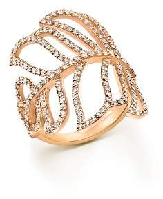 Bloomingdale's Diamond Leaf Statement Ring in 14K Rose Gold, 1.20 ct. t.w. - 100% Exclusive