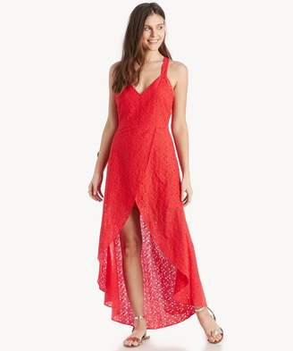 Sole Society Lace Tulip Hem Open Back Dress