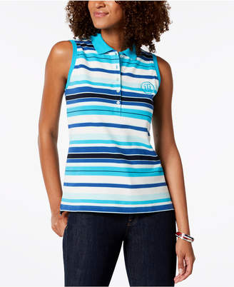Tommy Hilfiger Printed Sleeveless Polo Top, Created for Macy's