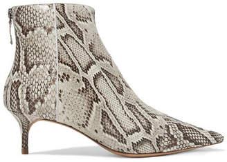 Alexandre Birman Kittie Python Ankle Boots - Snake print