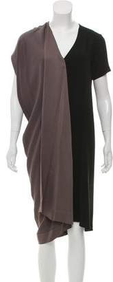 Zero Maria Cornejo Colorblock Asymmetrical Dress
