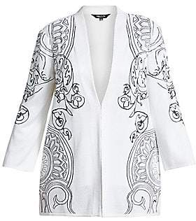 Misook Misook, Plus Size Misook, Plus Size Women's Embroidery Accent Jacket