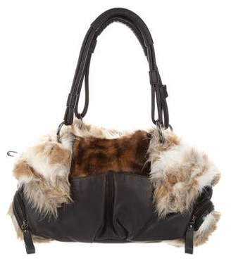 Adrienne Landau Vegan Fur Shoulder Bag