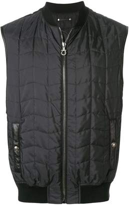 Salvatore Ferragamo ribbed trim gilet