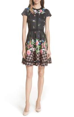 Ted Baker Daissie Florence Trim Skater Dress