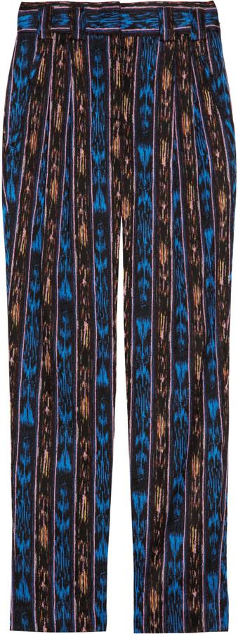 Proenza Schouler Ikat cotton-blend cropped pants