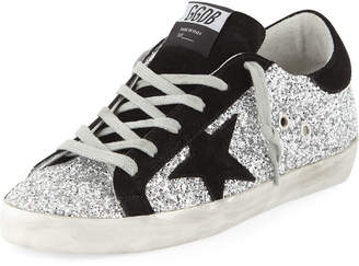 Golden Goose Superstar Glittered Platform Sneakers