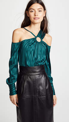 Yigal Azrouel Cold Shoulder Top with Ring