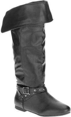 Mo Mo MoMo Womens' Darlene Wide Calf Buckle Riding Boot
