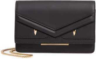 Fendi Wonder Monster Calfskin Leather Wallet on a Chain
