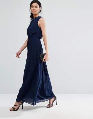 Oasis High Neck Embellished Maxi Dress $118 thestylecure.com
