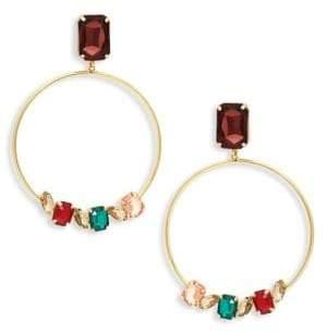 Jardin Crystal Hoop Drop Earrings