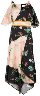 Peter Pilotto Floral-print Silk Satin Midi Dress