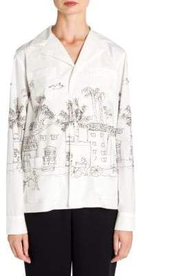 Marni Cotton Poplin Artist Jacket