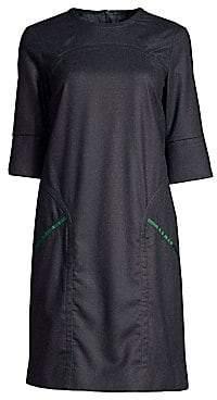 Piazza Sempione Women's Wool-Blend Shift Dress