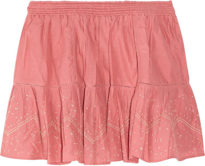 Vanessa Bruno Embroidered cotton mini skirt
