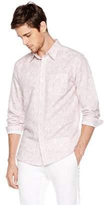 Isle Bay Linens Men's Long Sleeve Paisley Prints Woven Slim Hawaiian Shirt M