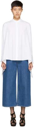 Alexander McQueen White Asymmetric Poplin Shirt