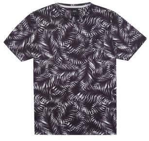 Burton Mens Black Palm All-Over Print T-Shirt