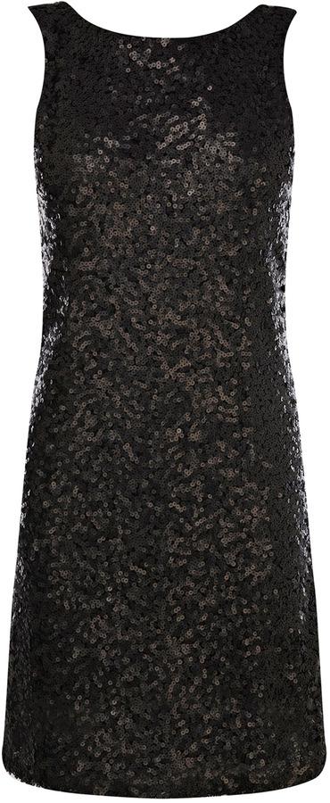 Sequin V Back Dress