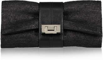 Joanna Maxham Nite Cap Clutch Black Intreccio Fabric