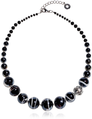 Antica Murrina Optical 2 - Black Murano Glass Choker $125 thestylecure.com