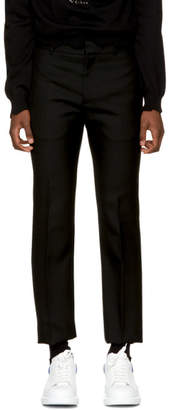 Alexander McQueen Black Wool Trousers