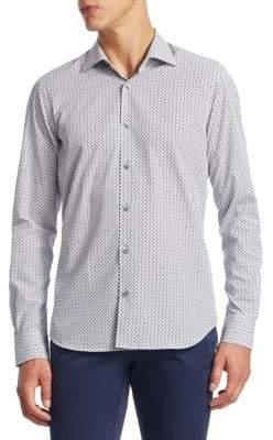 Saks Fifth Avenue COLLECTION Tile Print Cotton Button-Down Shirt