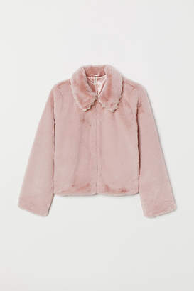 H&M Faux fur jacket - Pink