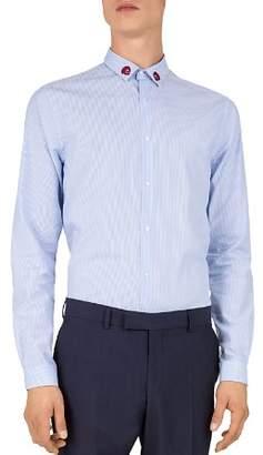 The Kooples Combination Striped Slim Fit Sport Shirt