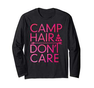 Camper Camp Hair Don't Care T shirt Camping Women Funny Gift