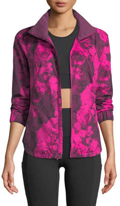 The North Face Zip-Front Floral-Print Reactor Jacket