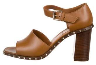 Valentino Leather Strap Sandals Brown Leather Strap Sandals