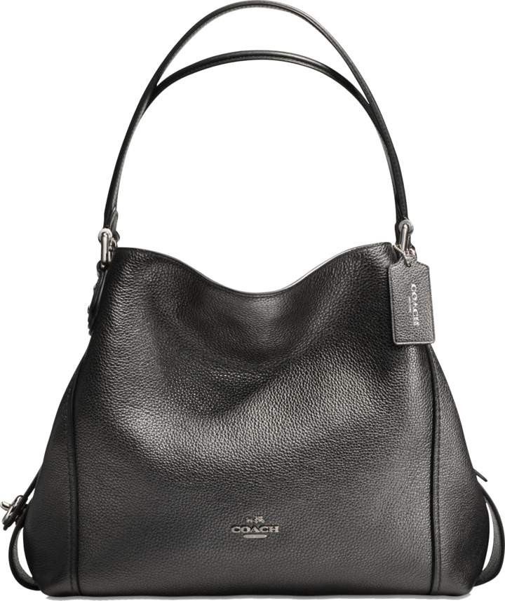 Coach Edie 31 Shoulder Bag in Metallic Graphite Calfskin