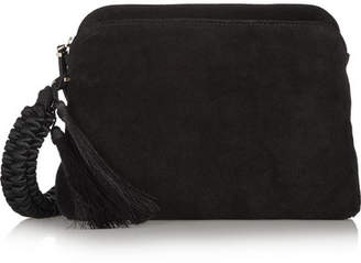 The Row Suede Clutch - Black